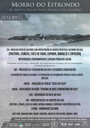 Projeto Encantos da Vila Realiza Auto dia 23/12/2012