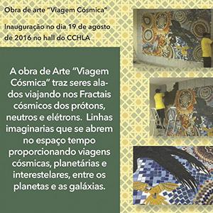 Arte em Mosaico é realizada no Hall do CCHLA através do Curso de Mosaico Artístico —  Subjetividade em Ação