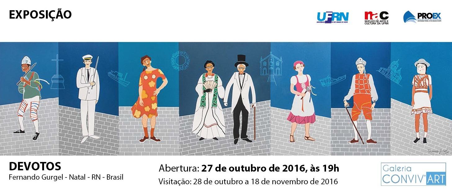 Abertura da exposição de Fernando Gurgel, dia 27 de outubro de 2016 - Galeria Conviv'Art, às 19h.