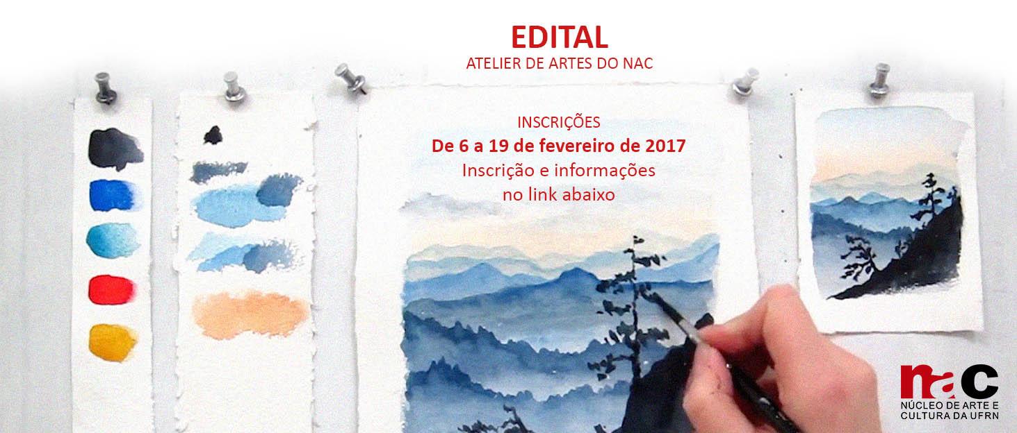 Edital de seleção para os Cursos do Atelier de Artes referente ao período de 2017.1
