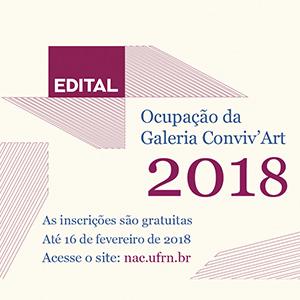 Aberto Edital para Ocupação da Galeria Conviv'Art em 2018
