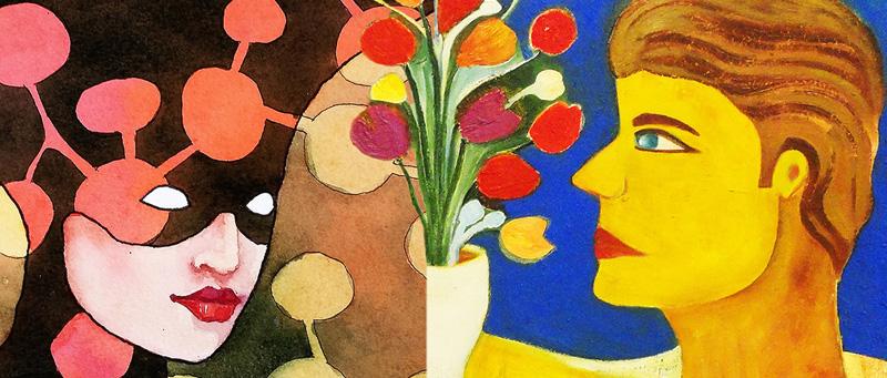 a-cor-dos gêmeos - Exposição dos artistas Vicente Vitoriano e Erasmo Andrade na Galeria Conviv'Art. Abertura: 19 de julho, às 18h.