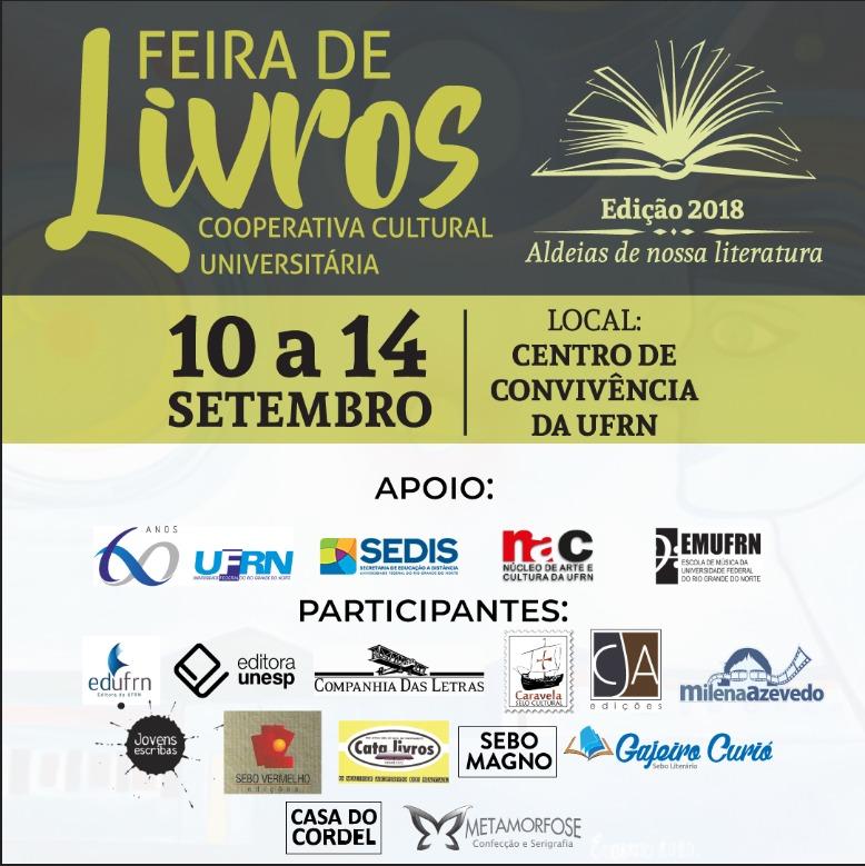 Feira de livros da Livraria Cooperativa Cultural começa dia 10 de setembro.