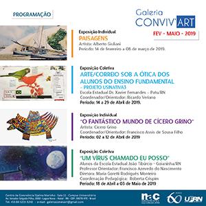 Agenda das próximas exposições da Galeria Conviv'Art