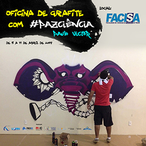 Oficina de Grafite na FACISA - Campus Santa Cruz/RN