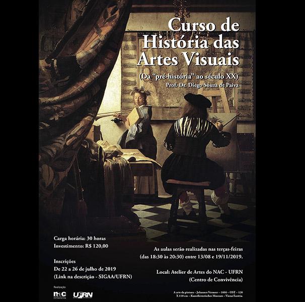 Prorrogado - Curso de História das Artes Visuais - Da pré-história ao século XX - Prof. Diego Souza de Paiva