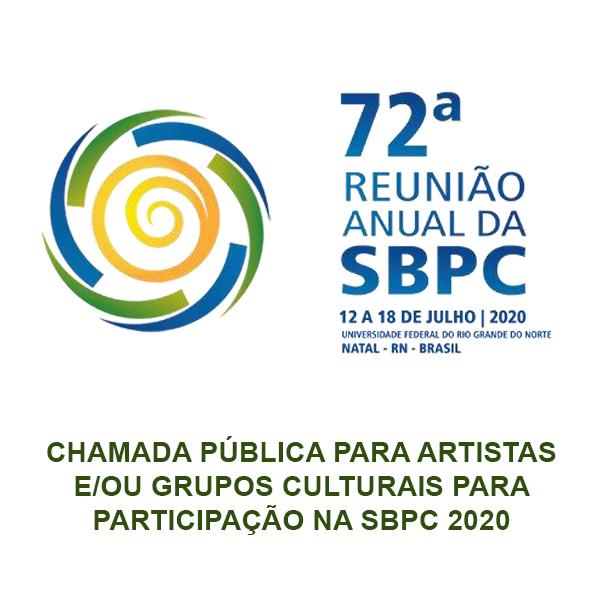 Edital da SBPC Cultural - Chamada pública