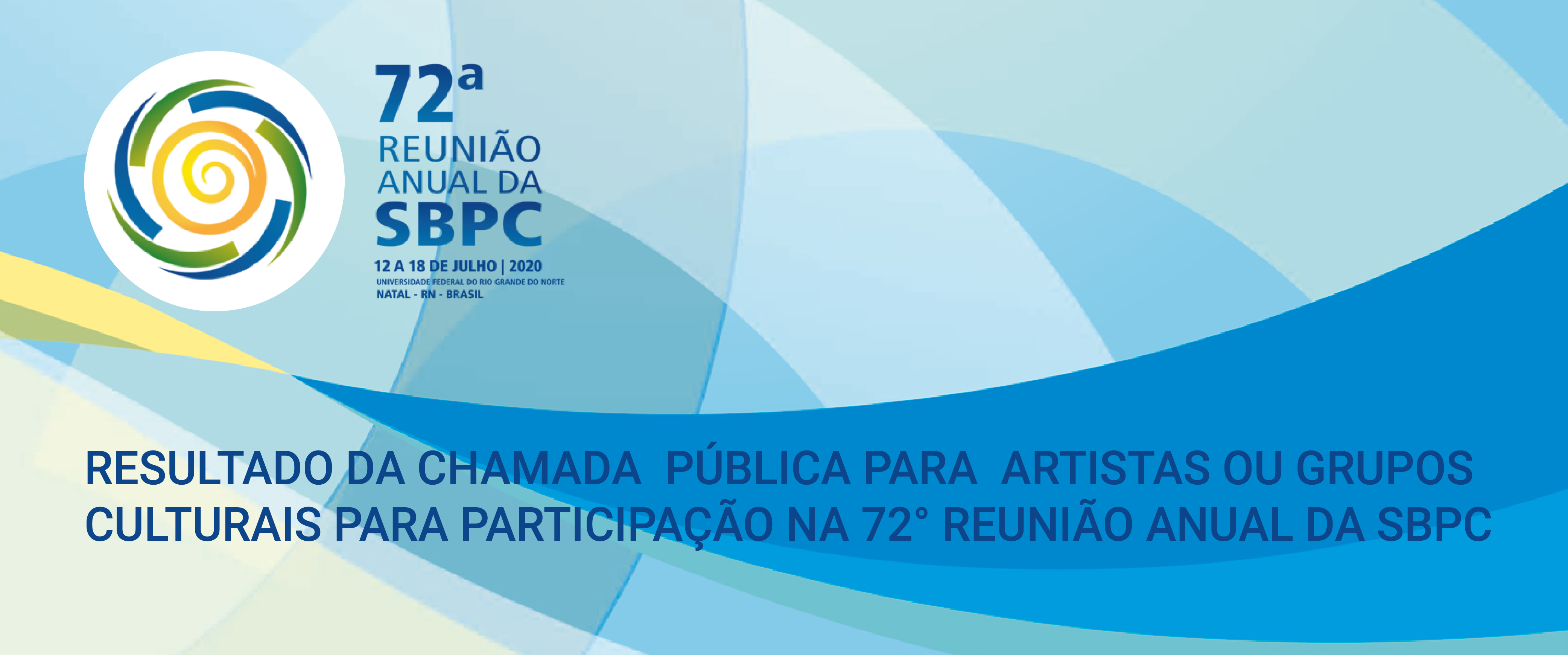 Resultado da chamada da SBPC Cultural