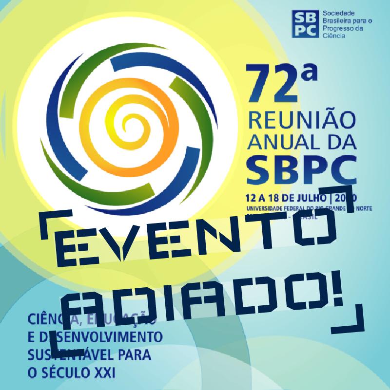 72ª Reunião da SBPC adiada