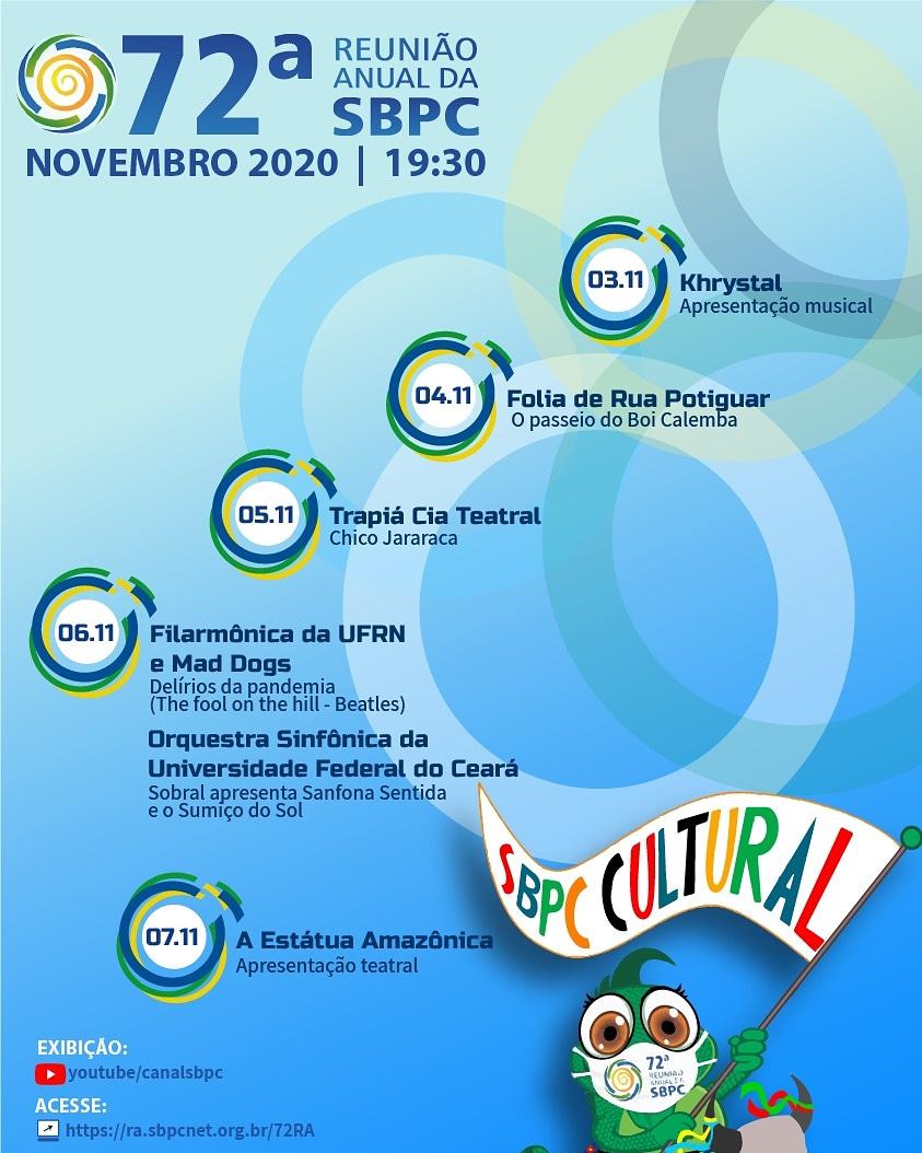 Programação da SBPC Cultural - Programação de Novembro