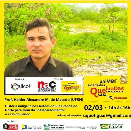 Universidade das Quebradas - Polo Potiguar: Aula com Prof. Helder Macedo